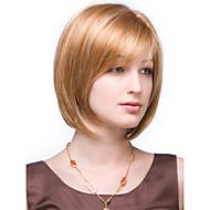 고품질 캡 밥 물결 모양의 모노 상단 인간의 머리 가발 선택 4 색