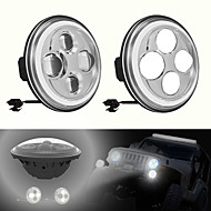 7inch LED Auto Headlight with Angel Eyes Waterproof 6000K H4 Car Light for SUV