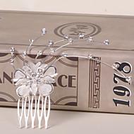 Peigne Casque Mariage/Occasion spéciale/Casual/Bureau & Carrière/Outdoor Alliage Femme/Jeune bouquetièreMariage/Occasion
