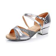 Non Přizpůsobitelné - Dámské / Dětské - Taneční boty - Latina - Koženka - Masivní podpatek - Stříbrná / Zlatá