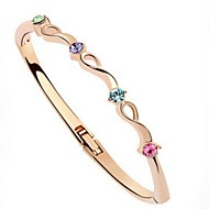 Women's Alloy Fashion/Round Bangles With Crystal Bracelet(More Color)