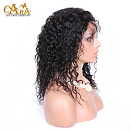 """8""""-26"""" Peruvian Virgin Hair Curly Glueless Full Lace Wig Color Black With Baby Hair for Black Women"""