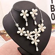 Women's Imitation Pearl Wedding Jewelry Set