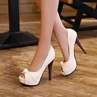 נעלי נשים - בלרינה\עקבים - דמוי עור - עקבים / נעלים עם פתח קדמי - שחור / ורוד / אדום / בז' - שמלה - עקב סטילטו