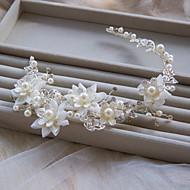 Serre-tête Casque Mariage/Occasion spéciale Strass/Tulle/Alliage/Imitation de perle Femme/Jeune bouquetière Mariage/Occasion spéciale1