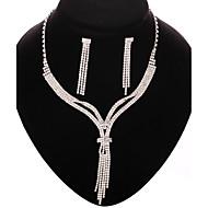 Conjunto de joyas Cristal Plata De mujeres