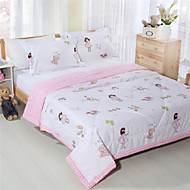 Pink Summer Quilts for Girls 100% Cotton Reactive Printing