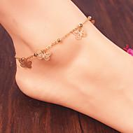 Women Fashion Body Jewelry Vintage Alloy Butterfly Tassels Anklets