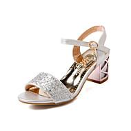 נעלי נשים - סנדלים - דמוי עור - גלדיאטור - כחול / כסוף / זהב - חתונה / משרד ועבודה / שמלה - עקב סטילטו
