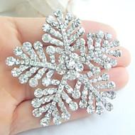 Wedding Accessories Silver-tone Clear Rhinestone Bridal Brooch Bridal Bouquet Wedding Deco Snowflake Wedding Brooch