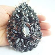 Women Accessories Black Gray Rhinestone Crystal Flower Brooch Wedding Deco Crystal Brooch Bridal Bouquet