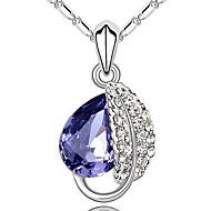 Women's  Silver Pendant With Water Wave Necklace