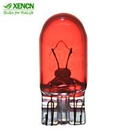 10pcs xencn W5W t10 12v 5w W2.1 * 9.5D interior rojo de advertencia salpicadero luz lámparas calibre indicador de fuente de iluminación