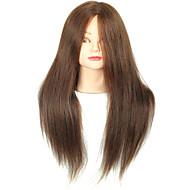メイクアップの色茶色と18インチブレンドヘアサロン女性のマネキンの頭部