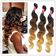 3Pcs/Lot Brazilian Ombre Hair Body Three Tone Ombre 1B/4/27 Color Unprocessed Hair