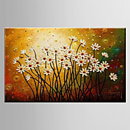 Oil Painting Floral/Botanical Paintings Flower Decoration Abstract Hand Painted Canvas with Stretched Framed M/L/XL