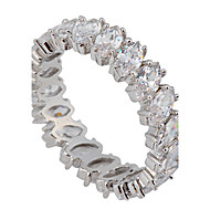 Ring Wedding / Party / Daily / Casual / Sports Jewelry Zircon / Gem Women Statement Rings 1pc,6 / 7 / 8 / 9 / 10 White