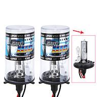 1 Pair 55W 12V H4-2 9003 15000K Xenon Hi/Lo Beam HID Replacement Bulbs For Headlight