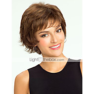 High Quality Human Hair Capless Short Curly Mono Top Human Hair Wigs 12 Colors to Choose