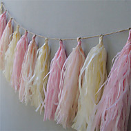 "Wedding Décor ""It's Girl ""15 Inch Tissue Tassel Garlands Paper Banners DIY for Baby Showers(set of 5)"