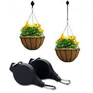 Einfache Reichweite-Betriebsriemenscheibe hängen Blumentopf Aufhänger Halter