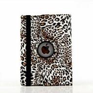 9.7 tuuman 360 asteen kierto leopardi tulostaa kuvio jalusta kotelo iPad ilma 2 / ipad 6 (eri värejä)