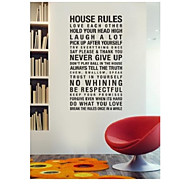 Harmony House Rules In This House Quote Wall Decal ZY8010 Adesivo De Parede Removable Vinyl Wall Sticker