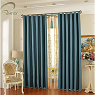 Country Curtains® One Panel Blue Solid Blackout Curtain