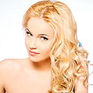 "Women Lace Front Wig 16""-22"" Brazilian Virgin Hair Color(Blonde) Wavy Hair"