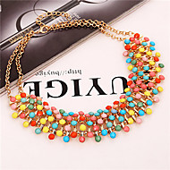 Starry Sky Alloy Collarbone Necklace(4 Color)(1Pc)