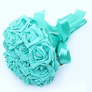 Elegant Hand Made Decorative PE Rose Flower Bride Bridal Wedding Bouquets Accessaries Party Decor(More Colors)