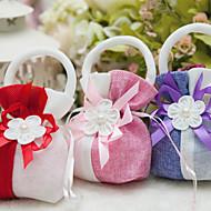 Geschenktaschen ( Fuchsia/Rosa/Rot , Vließstoff/Plástico ) - Personalisiert - Hochzeit