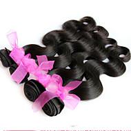 """8 """"-24"""" Extensiones de cabello humano de la onda del cuerpo del pelo virginal brasileño del pelo negro natural teje venta caliente"""