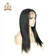 """10 """"-26"""" glueless csipke első paróka egyenes perui szűz hajszín természetes fekete baba haja fekete nők számára"""