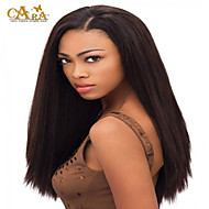 """8""""-26"""" Brazilian Virgin Hair Straight Glueless Full Lace Wig Color #2 With Baby Hair for Black Women"""