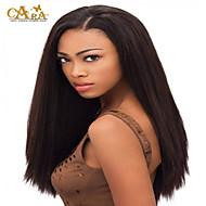 """8 """"-26"""" Braziliaanse maagdelijke haar steil lijmloze volledige kant pruik kleur # 2 met baby haar voor zwarte vrouwen"""