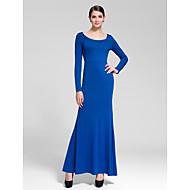 Cocktail Party Dress - Royal Blue Sheath/Column Scoop Floor-length Polyester