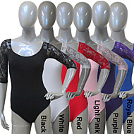 Cotton/Lycra With Lace 3/4 Sleeve Leotard More Colors for Girls and Ladies