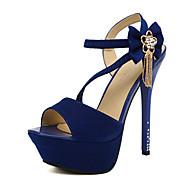 נשיםדמוי סוויד-פלטפורמה-שחור כחול-שמלה מסיבה וערב-עקב סטילטו פלטפורמה עקב קריסטל