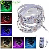 SENCART 1 M 60 5050 SMD RGB Accorciabile/Telecomando/Oscurabile/Collagabile/Adatto per veicoli/Auto-adesivo 15 WStrisce luminose LED