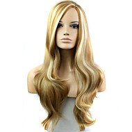 28 Inch Blonde Heat Resistant Fiber Synthetic Long Wave Female Wig