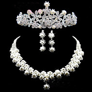 Women's Silver/Alloy/Vermeil Wedding/Party Jewelry Set With Crystal/Rhinestone