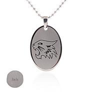 Gift Groomsman Customize Gift Men's The Wolf Pattern Pendant