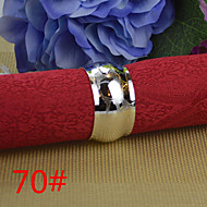 6pcs cuivre stries rond de serviette 25mm de tambour