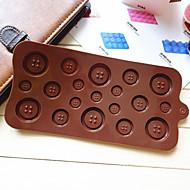 Tlačítko ve tvaru cukroví čokoláda muffin pečicí formy plísně (náhodné barvy)