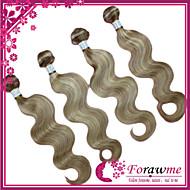 """4pcs / lot 16 """"-24"""" brasiliana estensioni dei capelli umani di colore della miscela 27/613 dell'onda del corpo del tessuto dei capelli"""