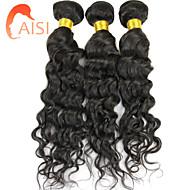 """3pcs / lot 10 """"-28"""" unverarbeitetes brasilianisches reines Haar natürliches schwarzes Wasser Welle Menschenhaar-Webart"""