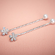 Korean Fashion Elegant Women's Alloy Drop Earrings
