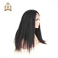 """10 """"26"""" glueless volle Spitzeperücke verworrene gerade malaysische reine Haarfarbe # 1B natürliche schwarze Babyhaar für schwarze Frauen"""