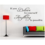 Believe In Yourself Home Decor Quote Wall Decal Decorative Adesivo De Parede Removable Wall Sticker